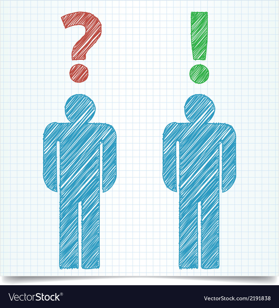 Man question vector | Price: 1 Credit (USD $1)