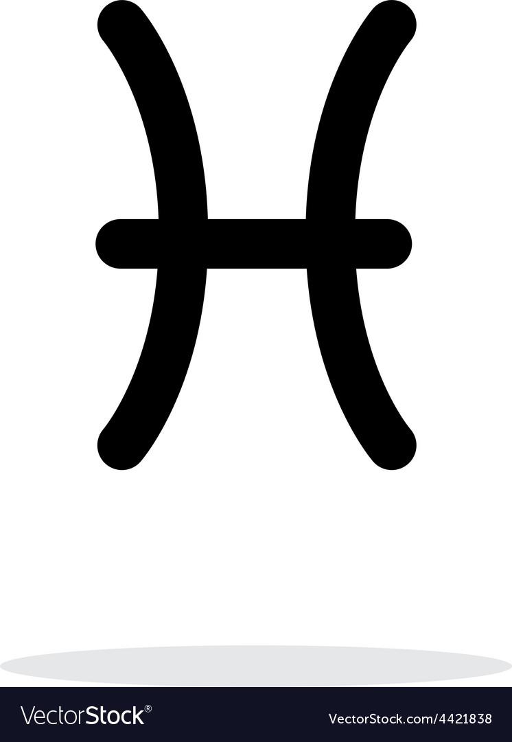 Pisces zodiac icon on white background vector   Price: 1 Credit (USD $1)