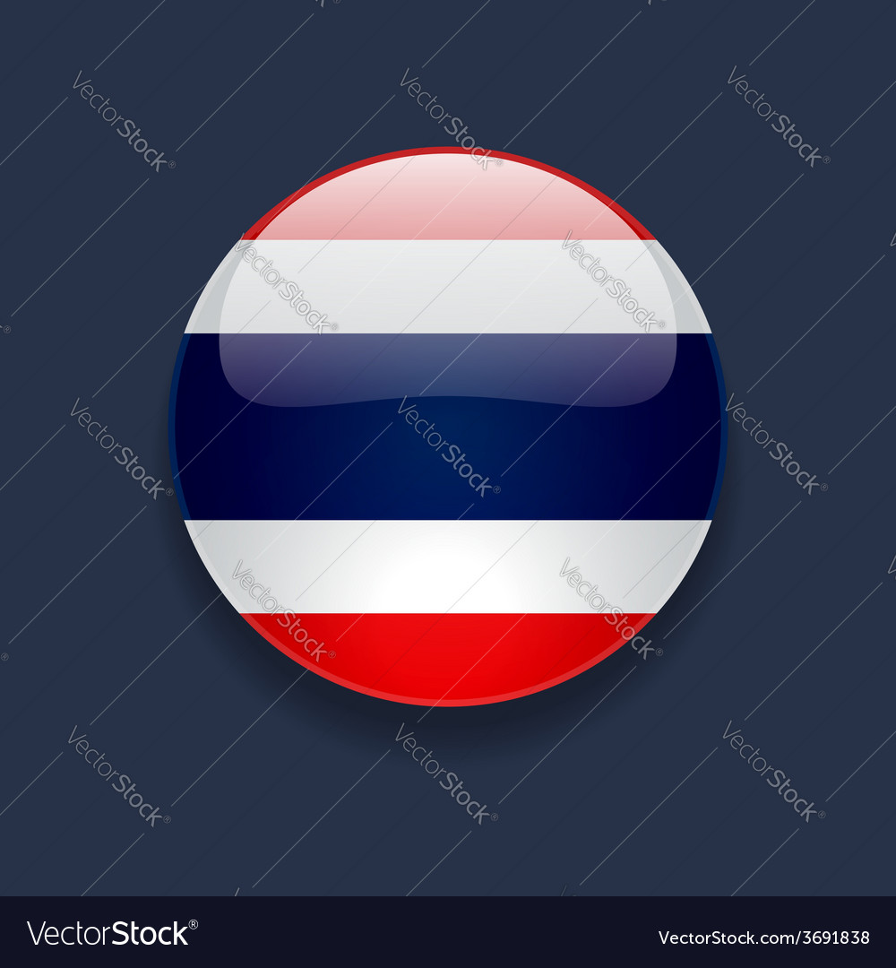 Round icon with flag of thailand vector | Price: 1 Credit (USD $1)