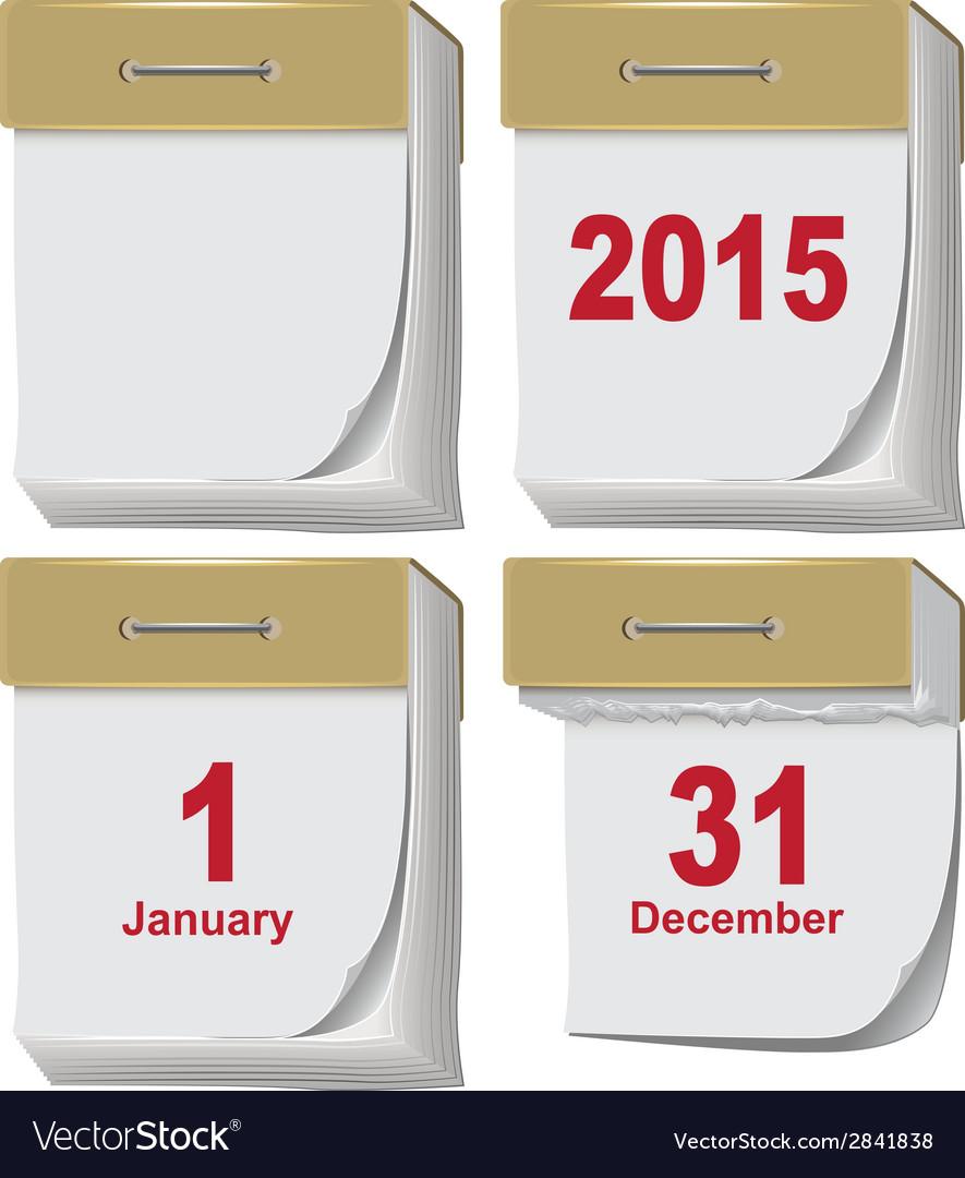 Set of tear-off calendar vector   Price: 1 Credit (USD $1)