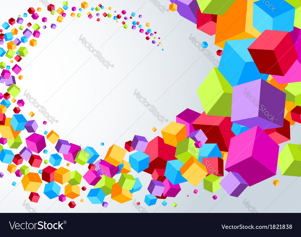 Swoosh made of colorful cubes vector | Price: 1 Credit (USD $1)