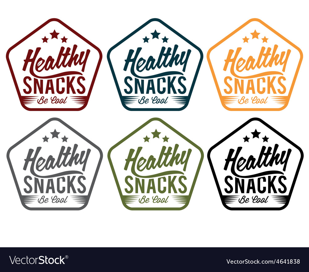 Vintage emblem healthy snaks vector | Price: 1 Credit (USD $1)