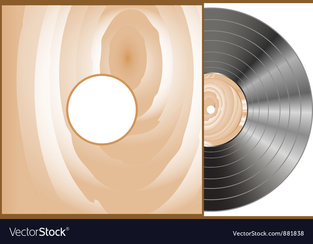 Vinyl and wood cover vector | Price: 1 Credit (USD $1)