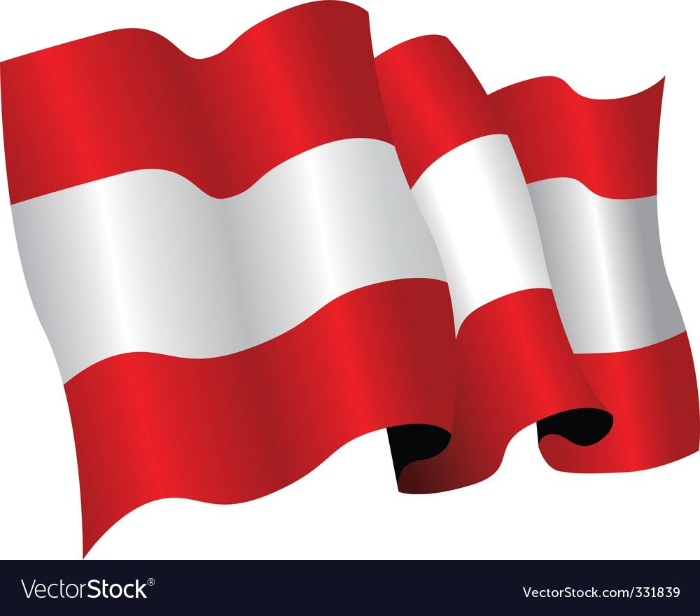 Austria flag vector | Price: 1 Credit (USD $1)