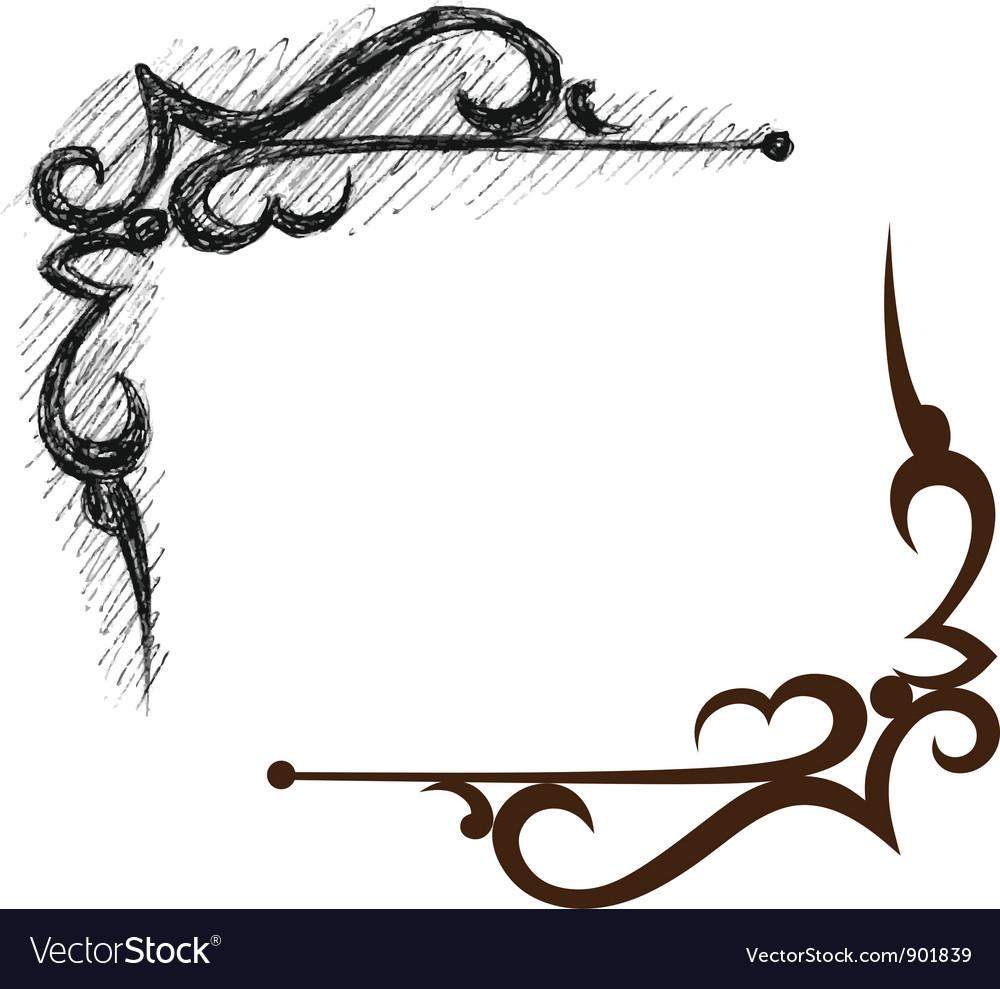 Black grunge ornate vector | Price: 1 Credit (USD $1)