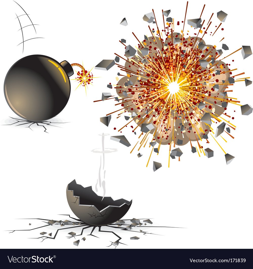 Bomb explosion vector | Price: 1 Credit (USD $1)
