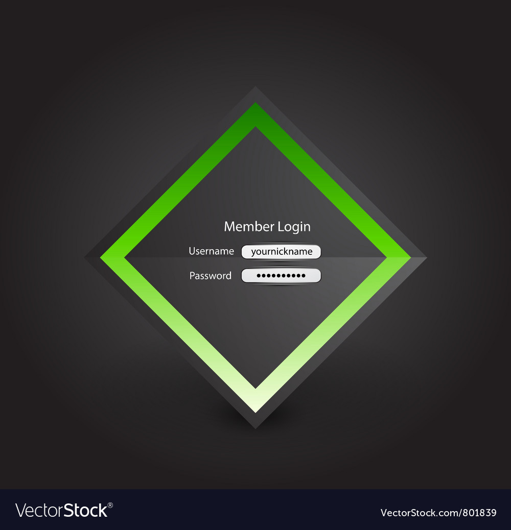 Business login page vector | Price: 1 Credit (USD $1)