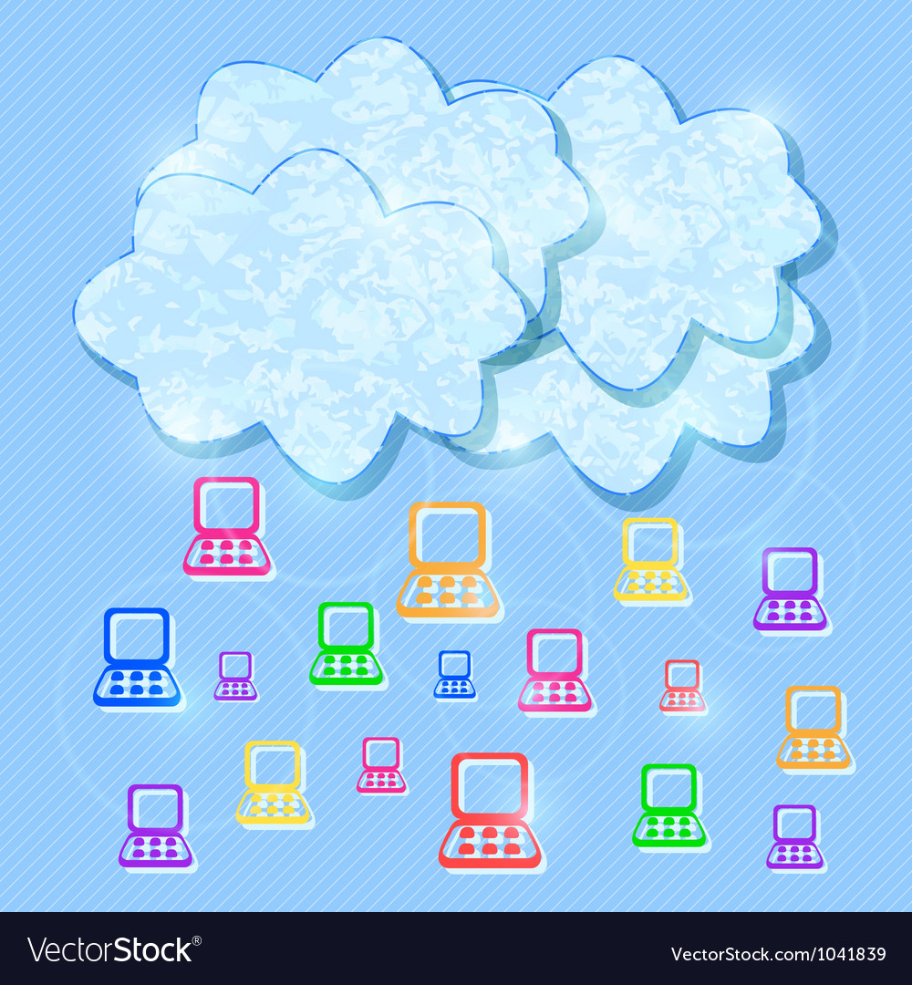 Cloud computing mobile concept background vector | Price: 1 Credit (USD $1)
