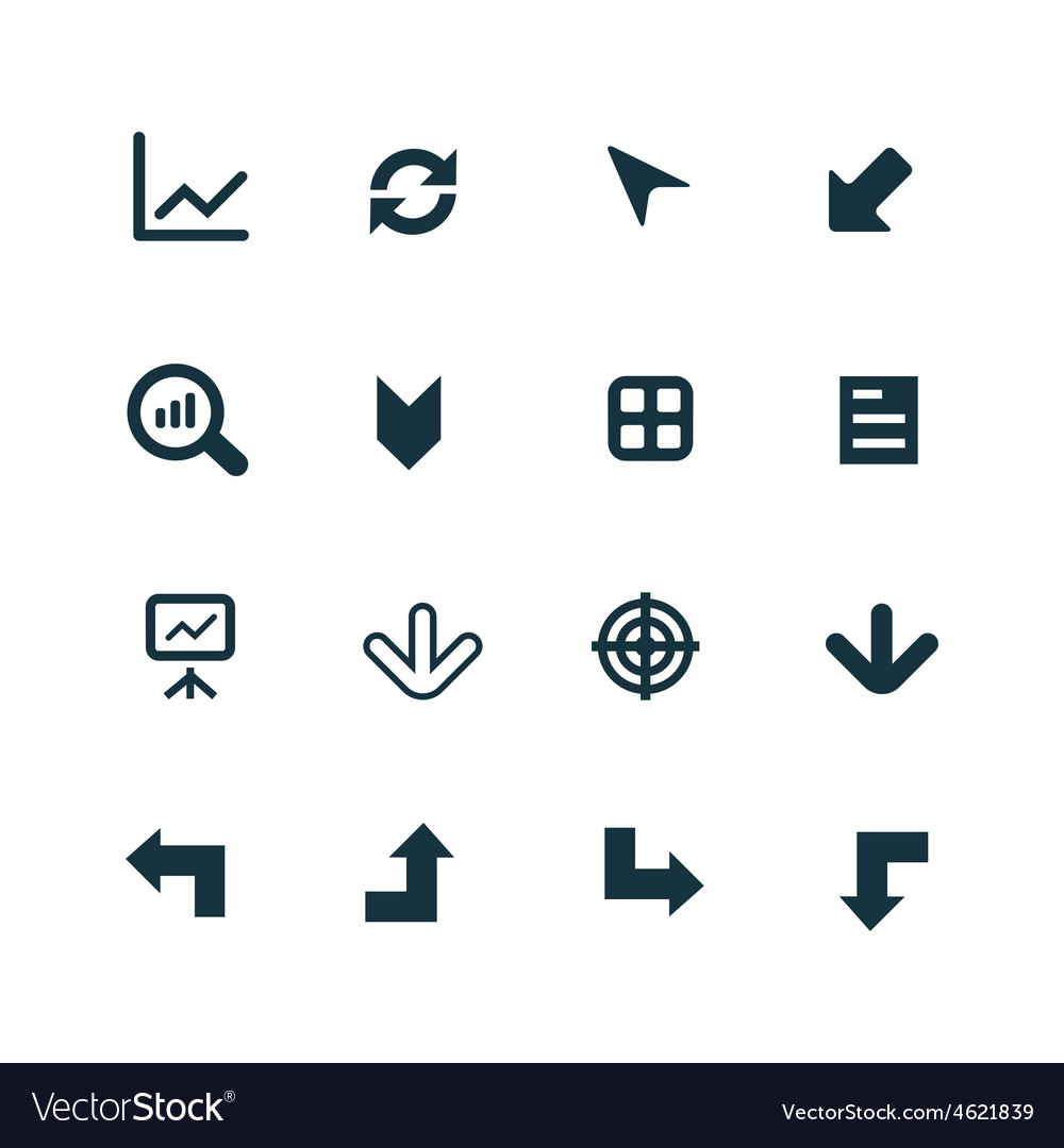 Diagram icons set vector | Price: 1 Credit (USD $1)