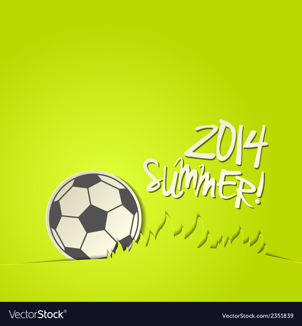 Football 2014 ball background vector | Price: 1 Credit (USD $1)