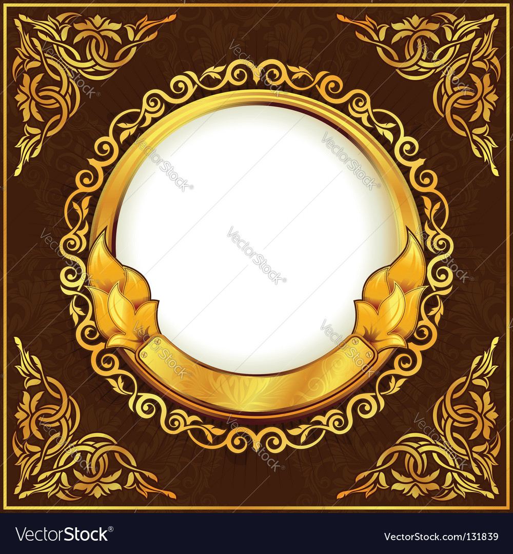 Gold vintage frame vector | Price: 1 Credit (USD $1)