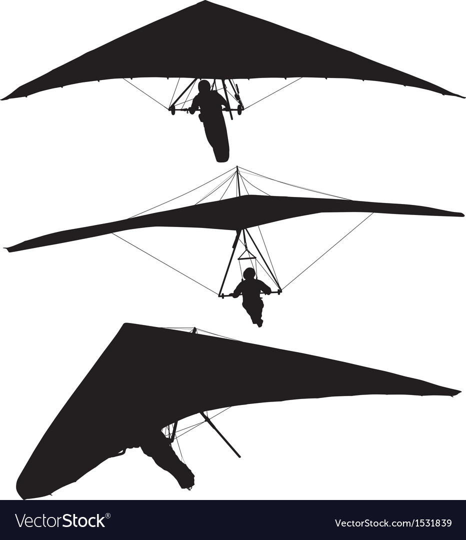 Hang glider silhouette vector | Price: 1 Credit (USD $1)
