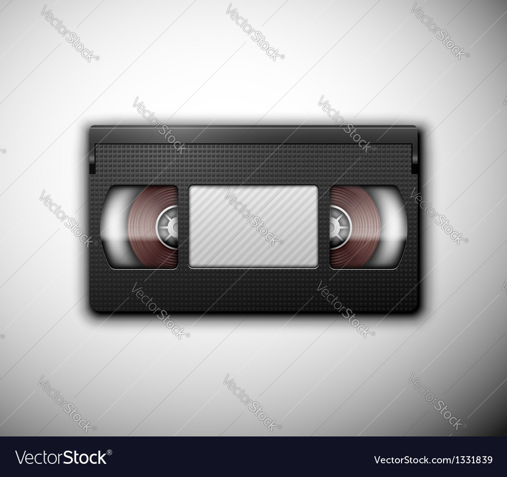 Isolated videotape vector | Price: 1 Credit (USD $1)