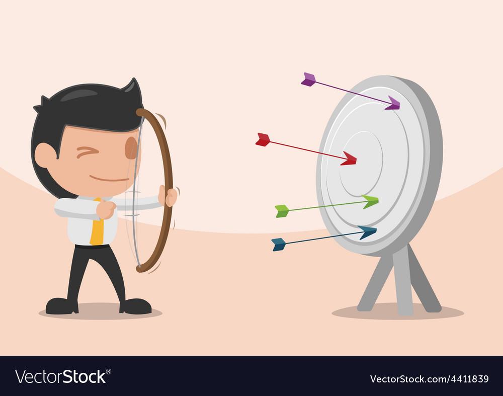 Man shoot arrow target archer vector   Price: 1 Credit (USD $1)