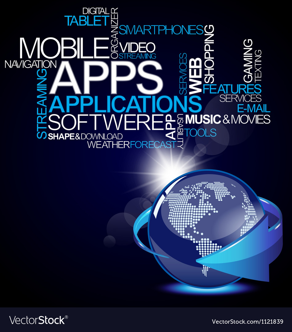 Mobile software application vector | Price: 1 Credit (USD $1)