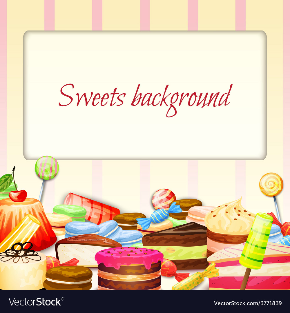 Sweets food background vector | Price: 3 Credit (USD $3)