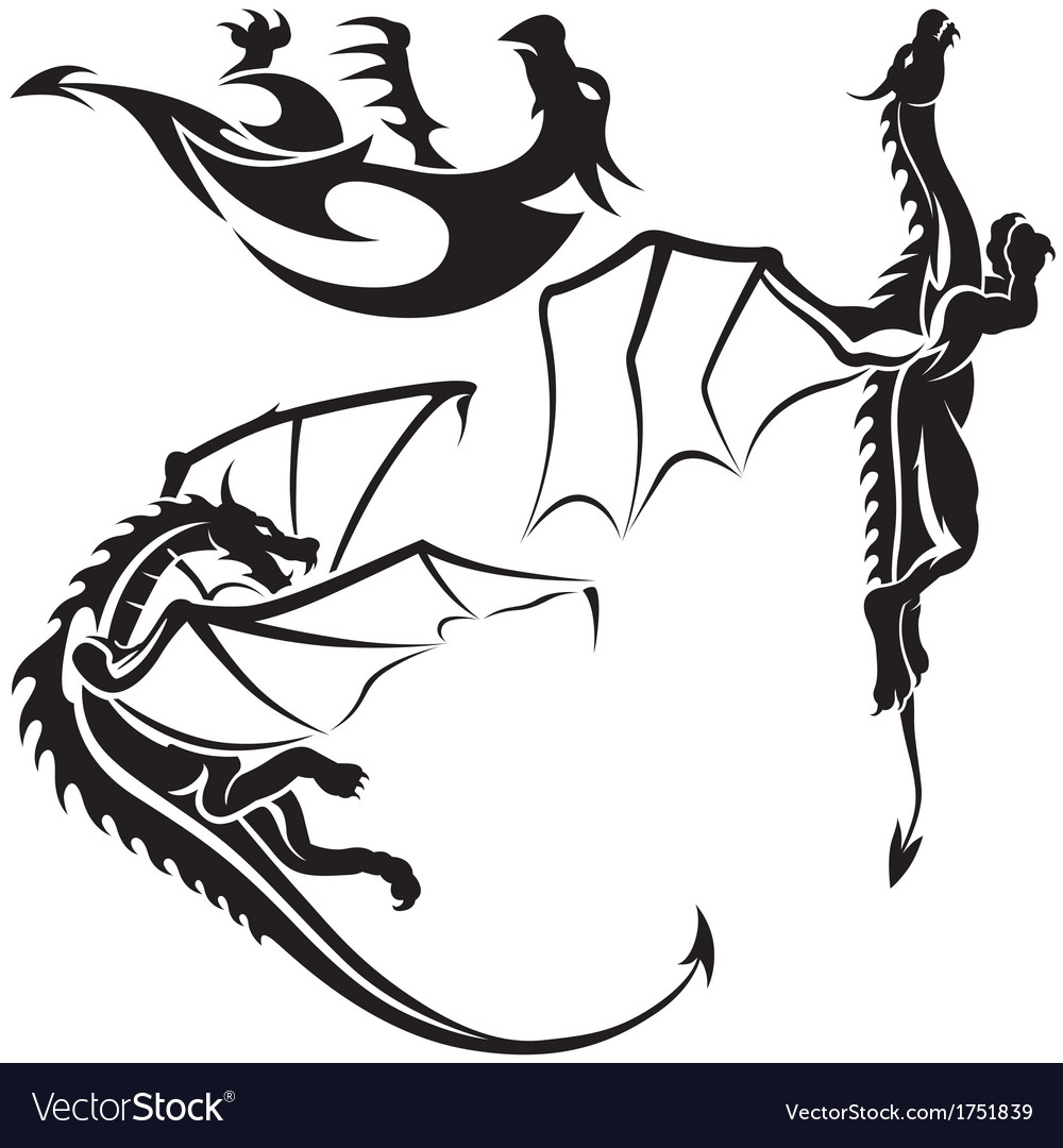 Tattoo dragons vector | Price: 1 Credit (USD $1)