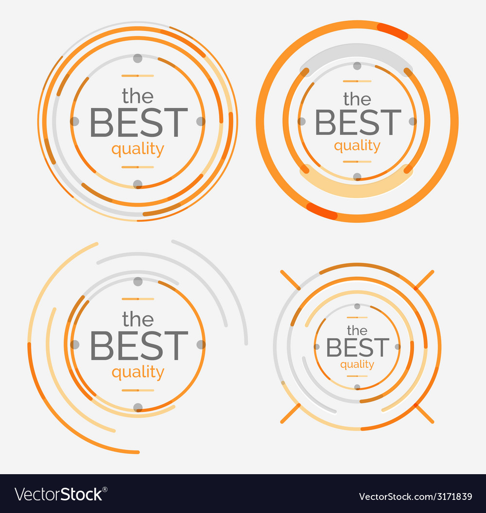 Thin line neat design logo set premium quality vector | Price: 1 Credit (USD $1)