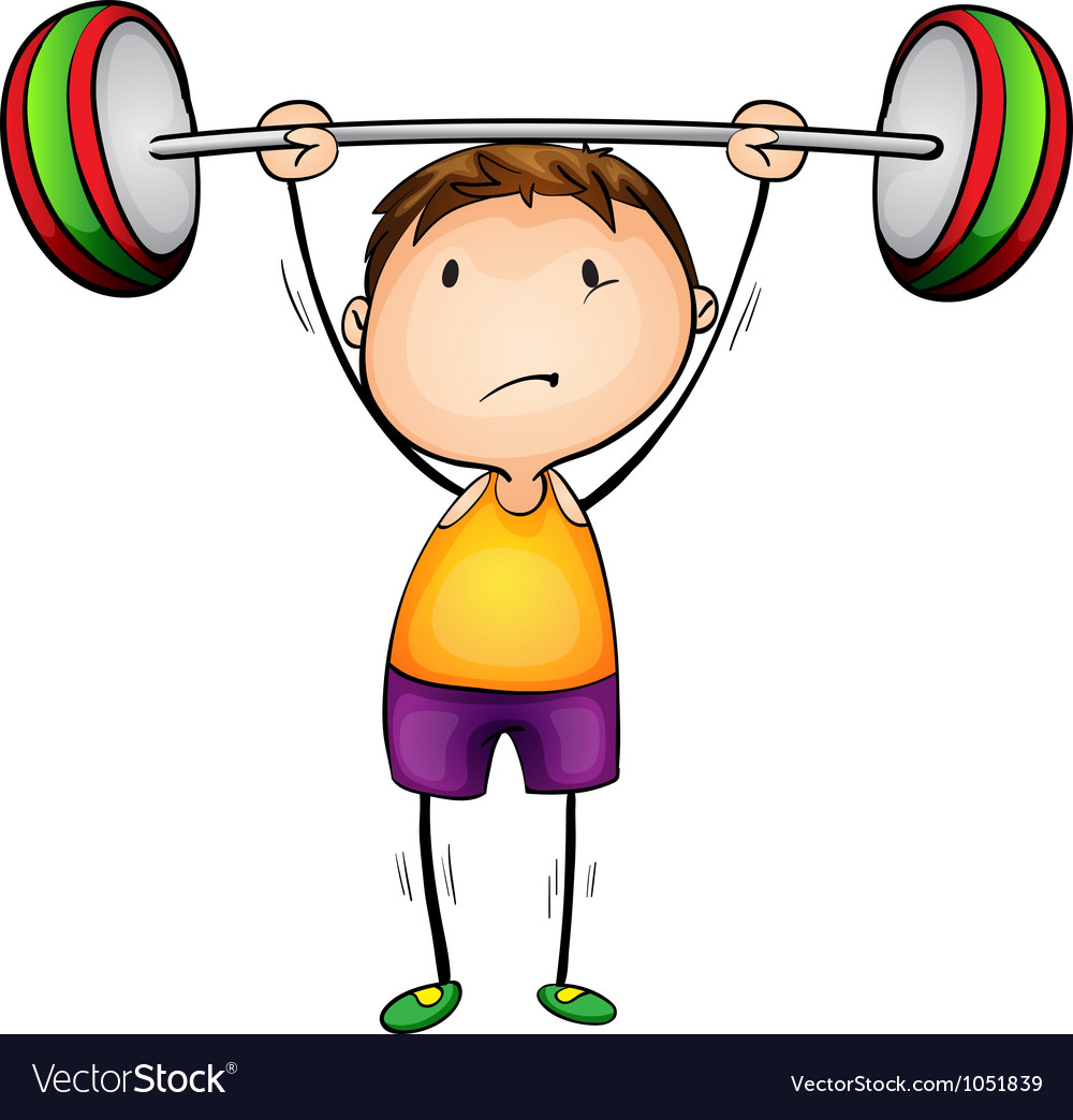 Weight lifter vector | Price: 1 Credit (USD $1)