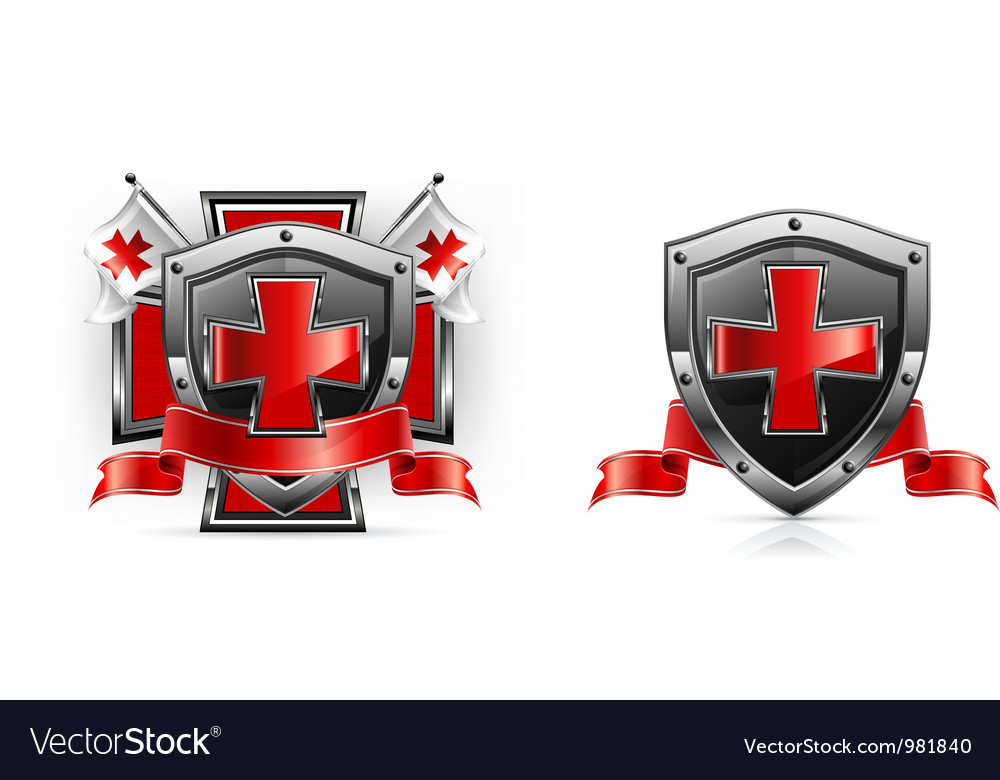 Emblem templar red cross vector | Price: 1 Credit (USD $1)