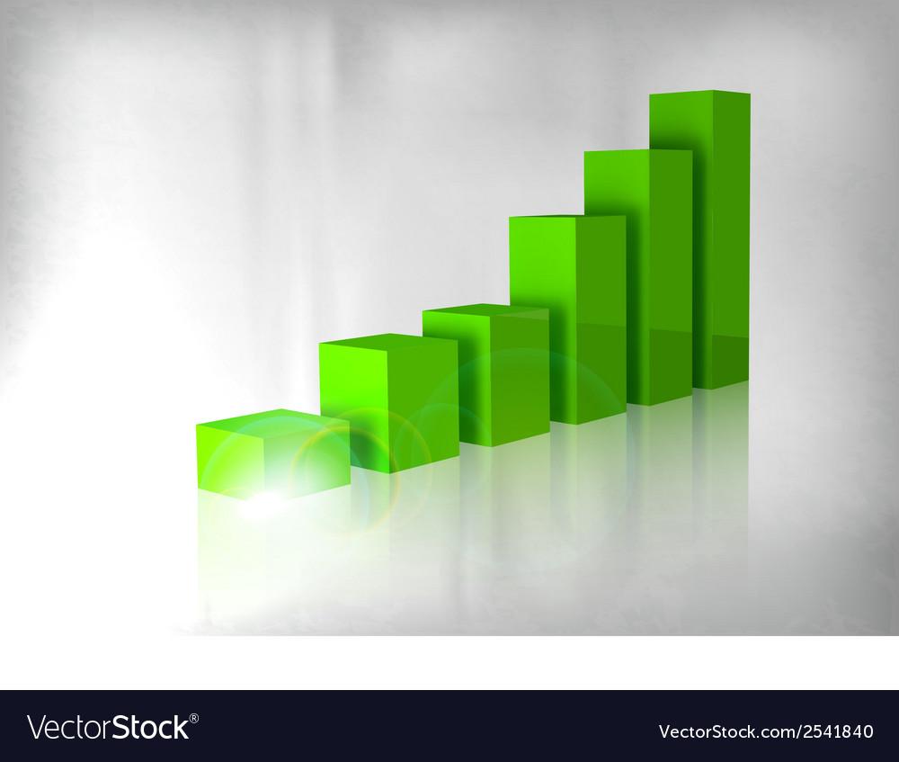 Graph green vector | Price: 1 Credit (USD $1)