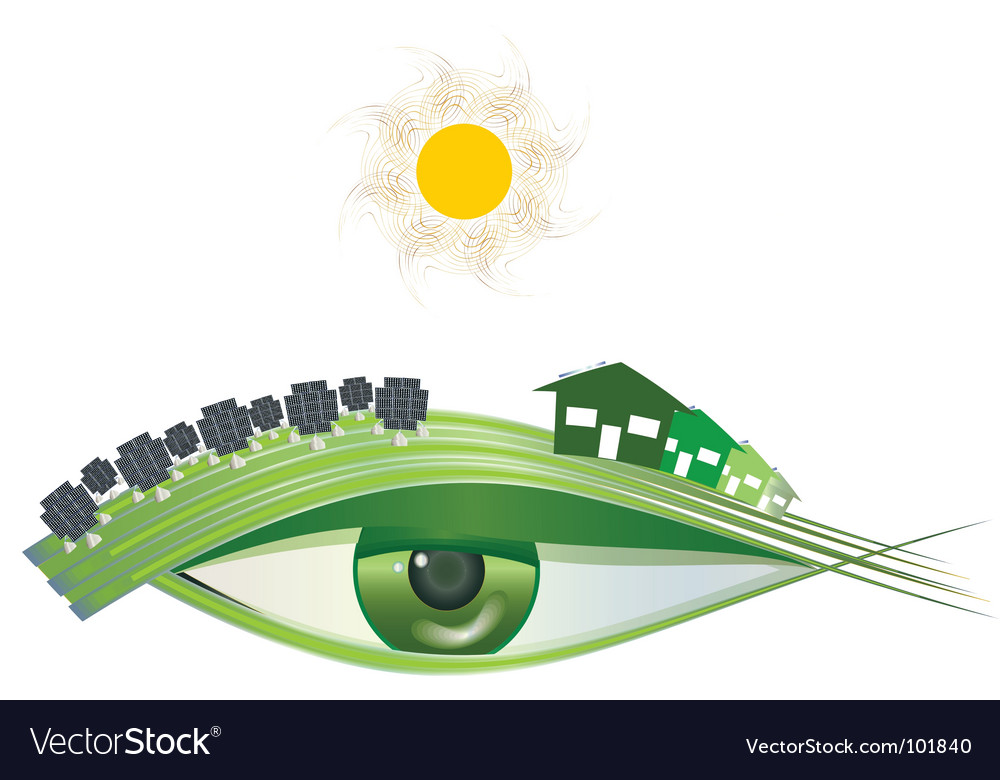 I see green solar vector | Price: 1 Credit (USD $1)