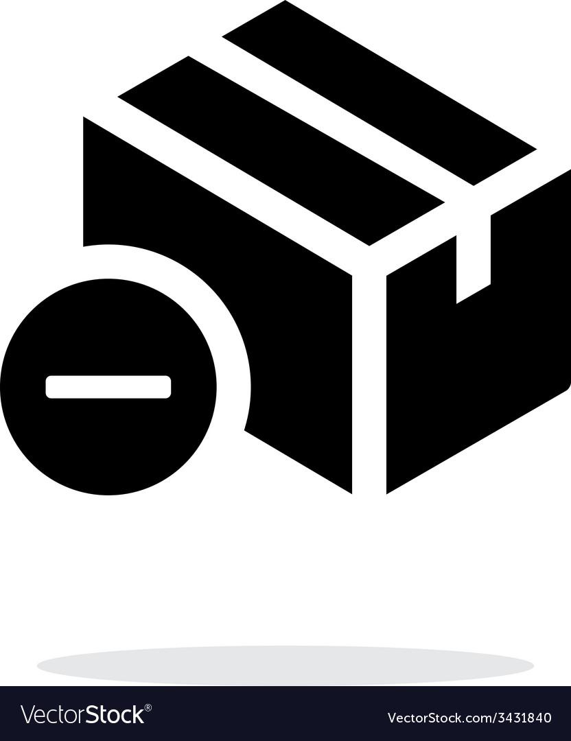 Remove box simple icon on white background vector   Price: 1 Credit (USD $1)