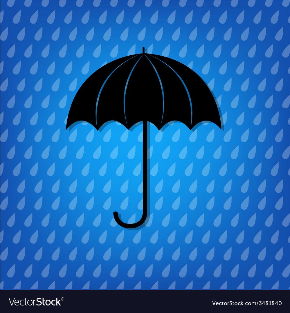 Vintage black umbrella vector | Price: 1 Credit (USD $1)