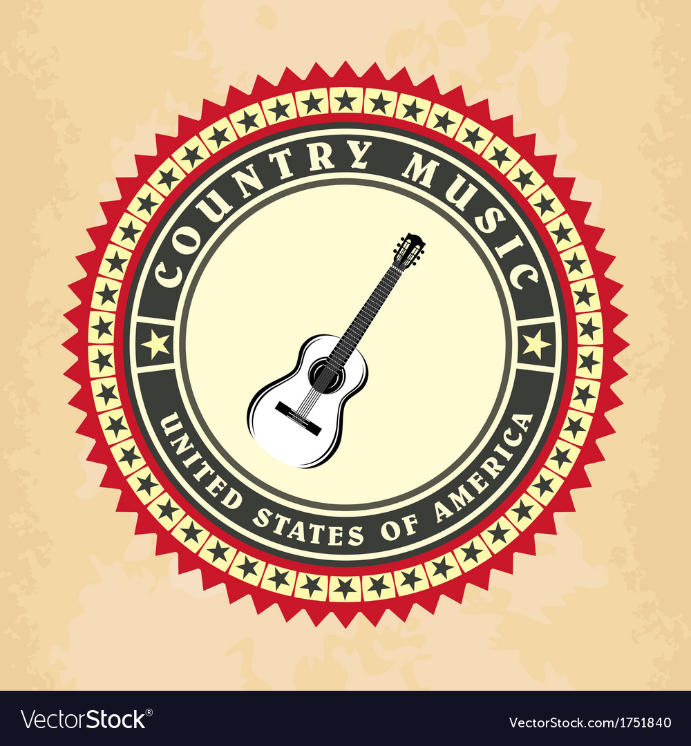 Vintage label country music vector | Price: 1 Credit (USD $1)