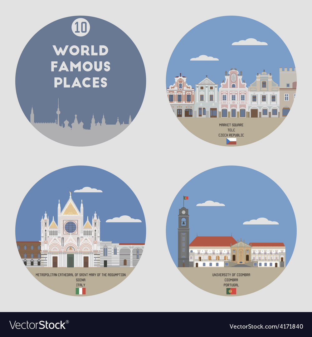 World famous places vector   Price: 1 Credit (USD $1)