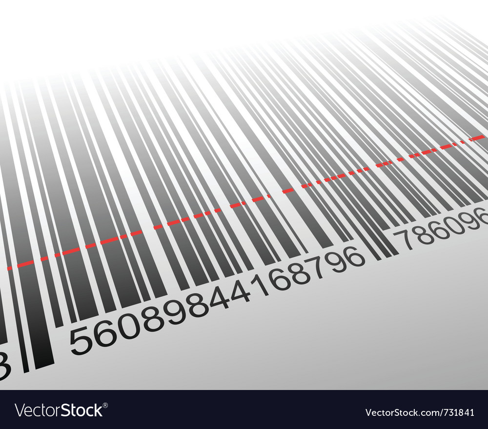 Barcode with laser effect vector | Price: 1 Credit (USD $1)