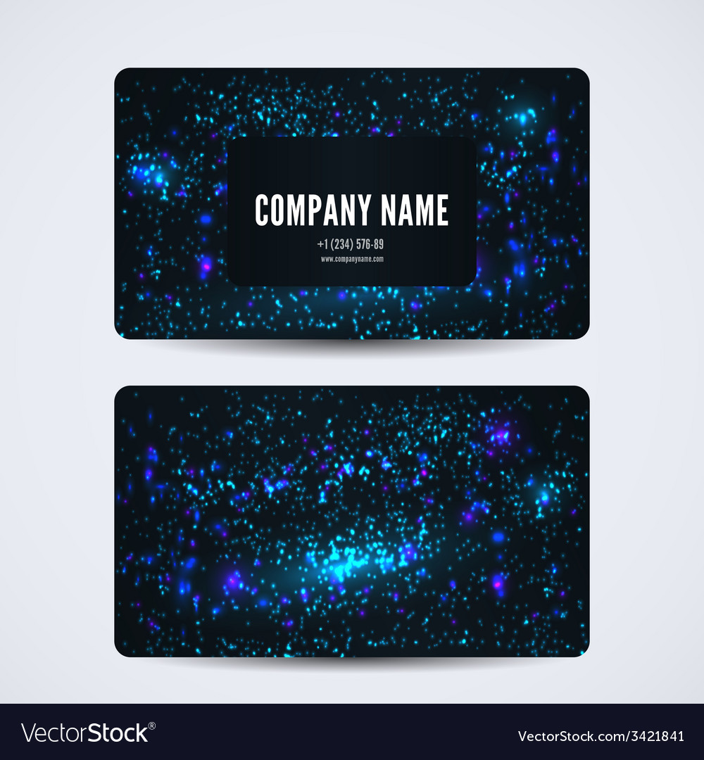Business card front and back with abstract cosmic vector | Price: 1 Credit (USD $1)