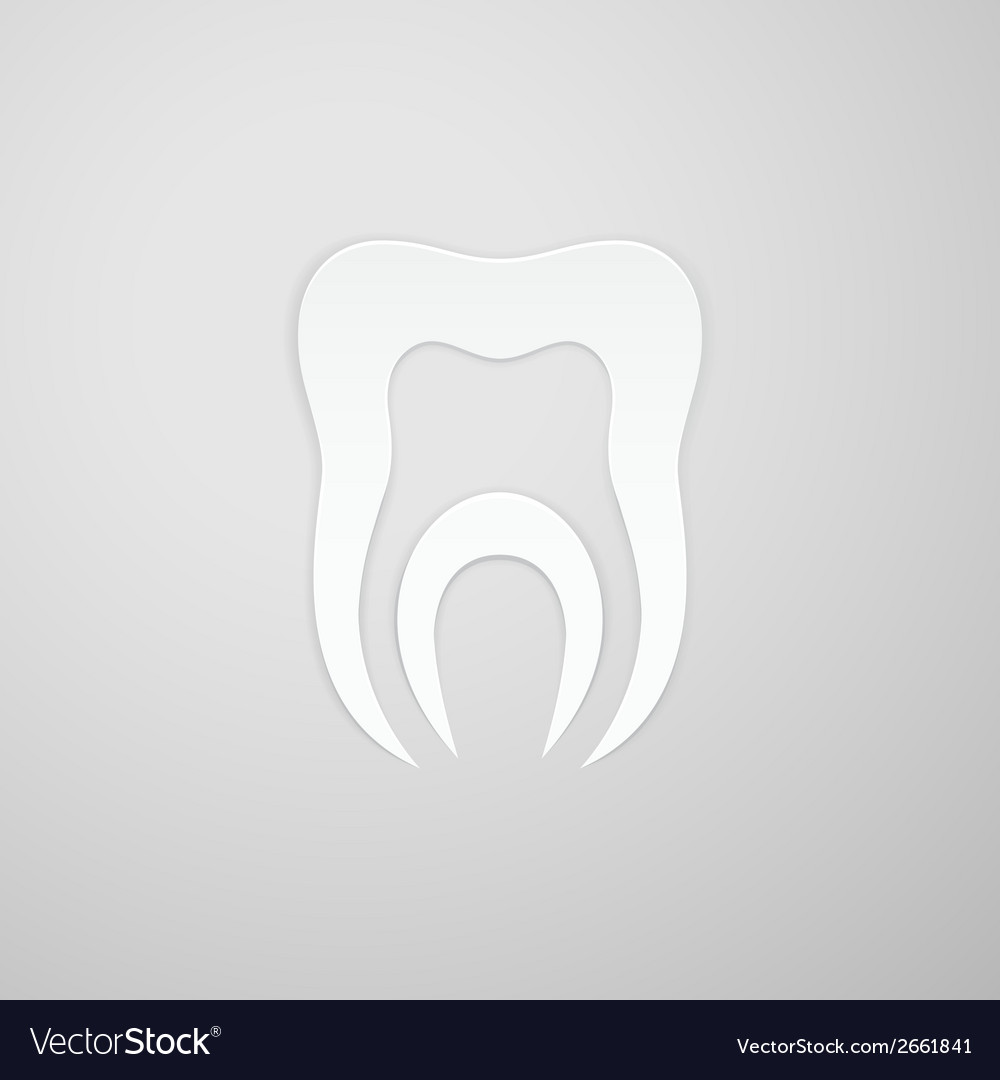 Canal in the symbol tooth vector | Price: 1 Credit (USD $1)