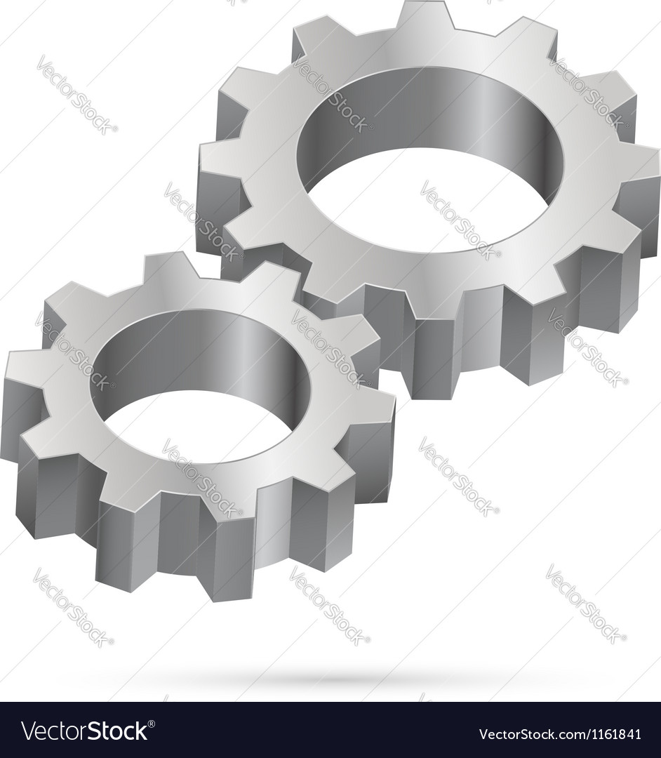 Chrome gearwheel vector | Price: 1 Credit (USD $1)