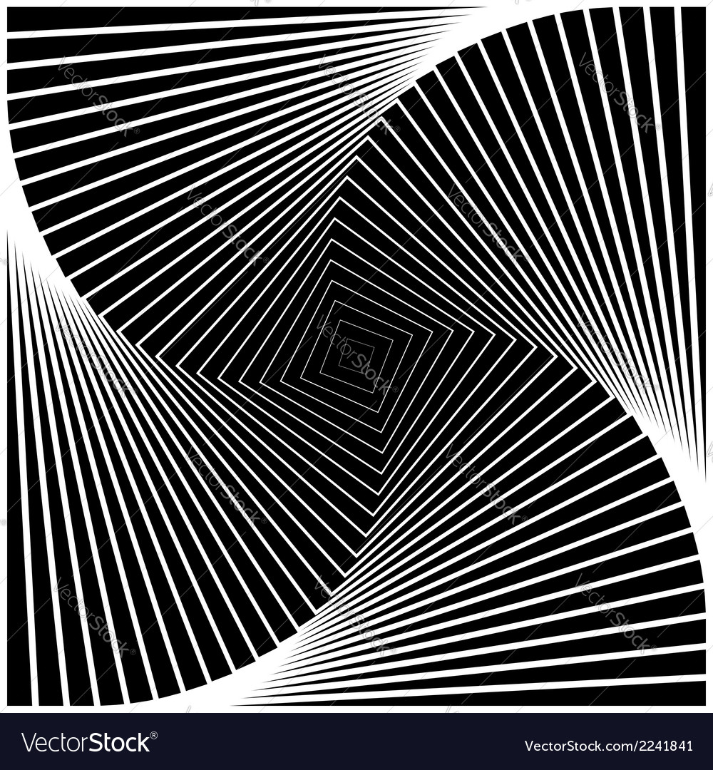 Design monochrome swirl movement square background vector | Price: 1 Credit (USD $1)