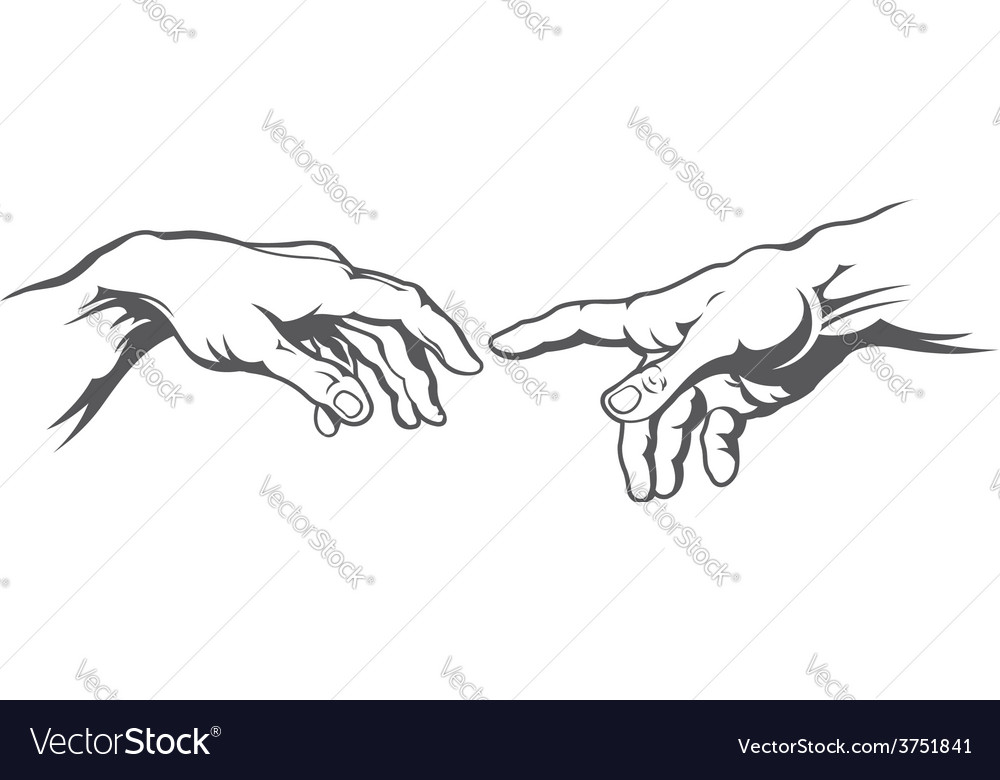 Hand to hand tattoo vector | Price: 1 Credit (USD $1)