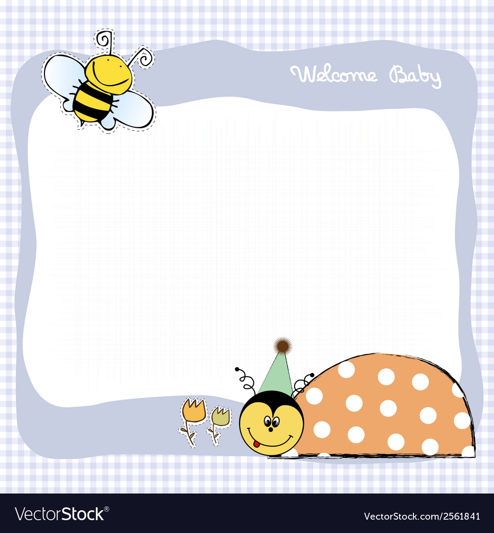 Happy birthday card with ladybug vector | Price: 1 Credit (USD $1)