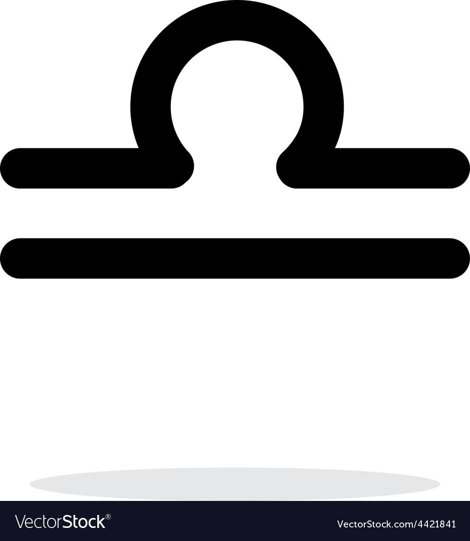 Libra zodiac icon on white background vector   Price: 1 Credit (USD $1)