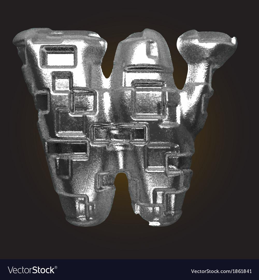Metal figure w vector | Price: 1 Credit (USD $1)