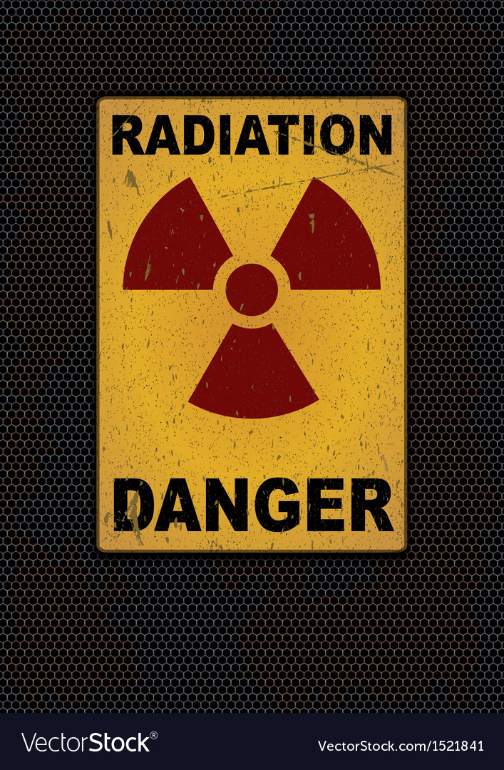 Radiation sign grunge background vector
