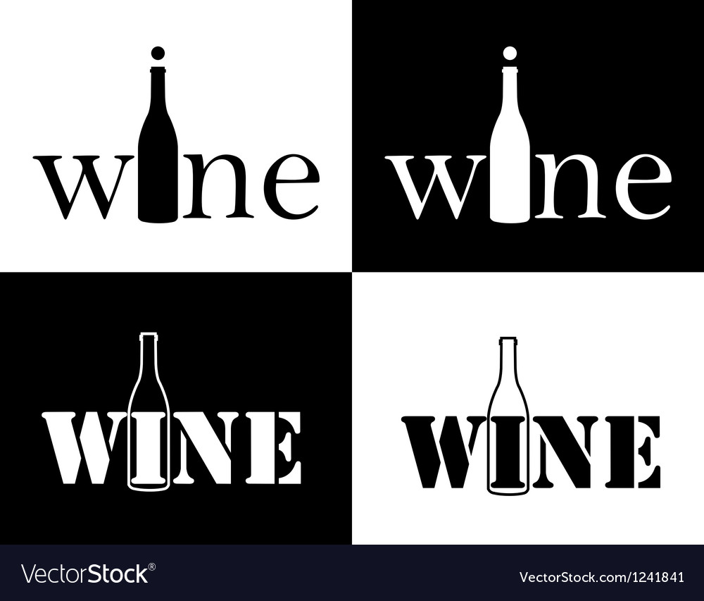 Set symbol of wine vector | Price: 1 Credit (USD $1)