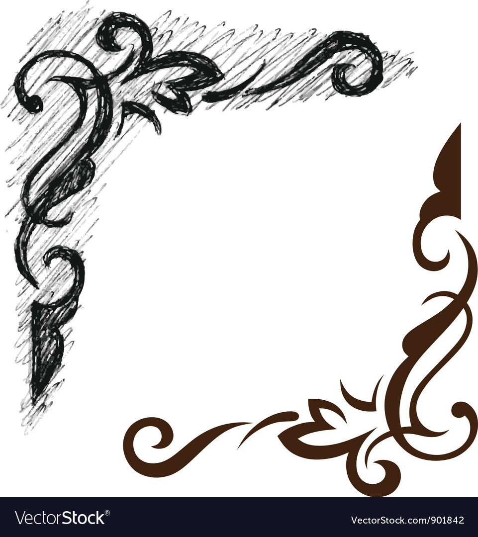 Black grunge ornate vector | Price: 1 Credit (USD $1)