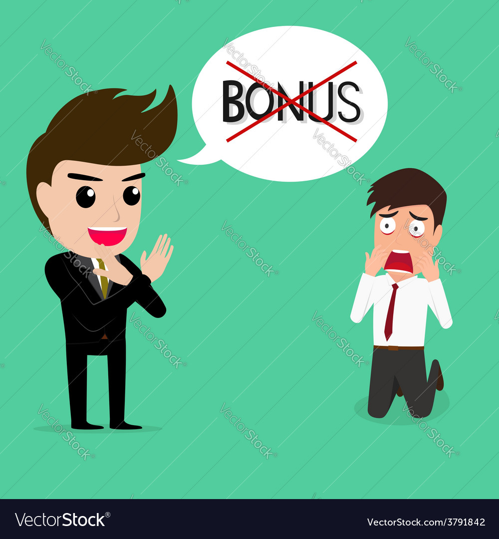 Business man shocked he does not get bonus vector | Price: 1 Credit (USD $1)