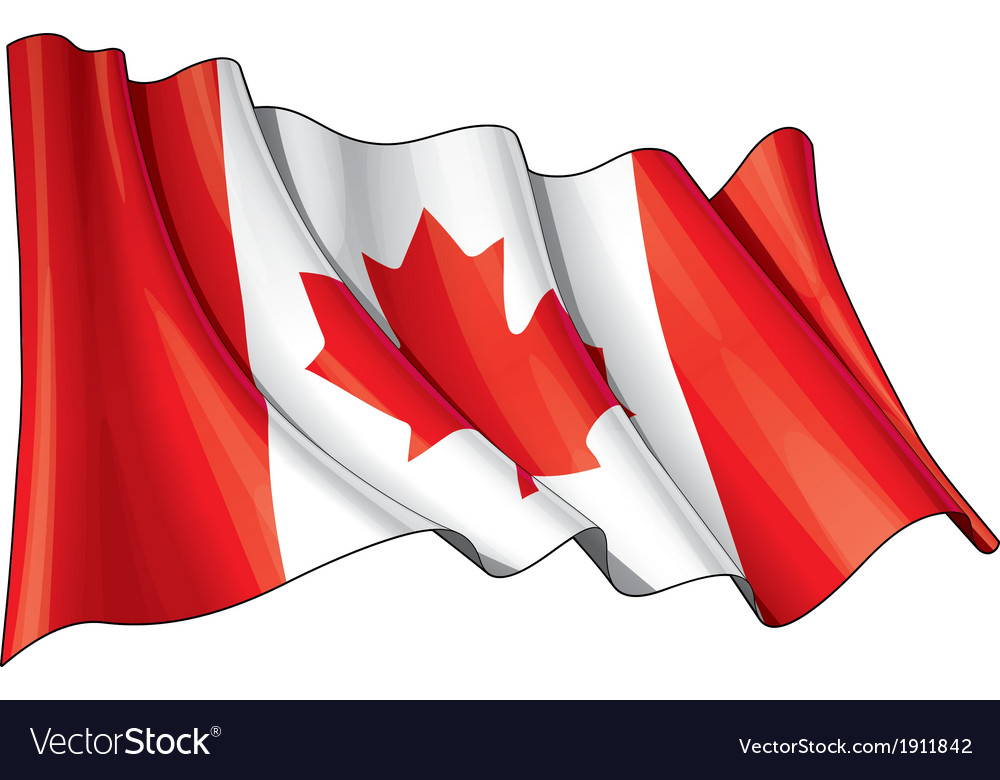 Canada flag vector | Price: 1 Credit (USD $1)