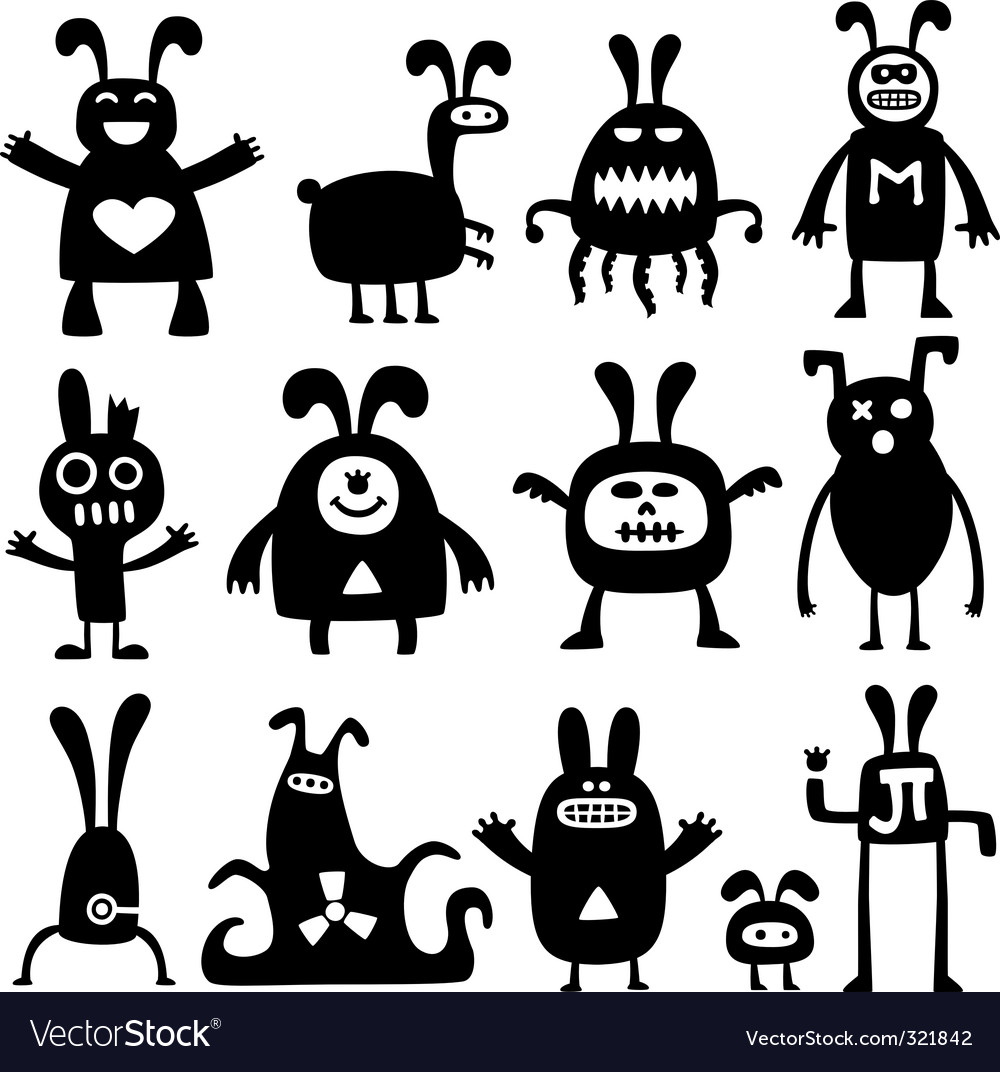 Cartoon rabbits vector | Price: 1 Credit (USD $1)
