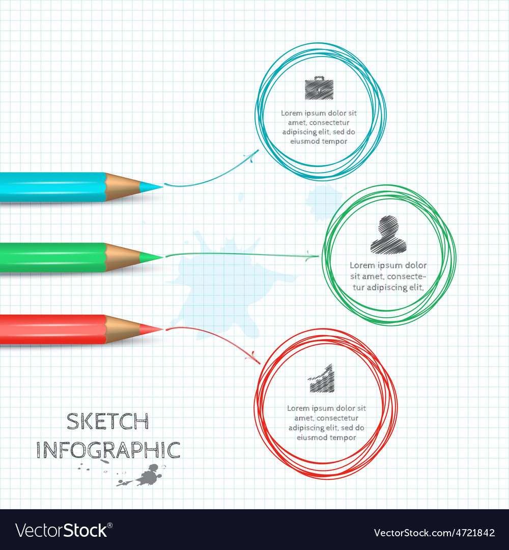 Doodle sketch elements for infographic vector | Price: 1 Credit (USD $1)