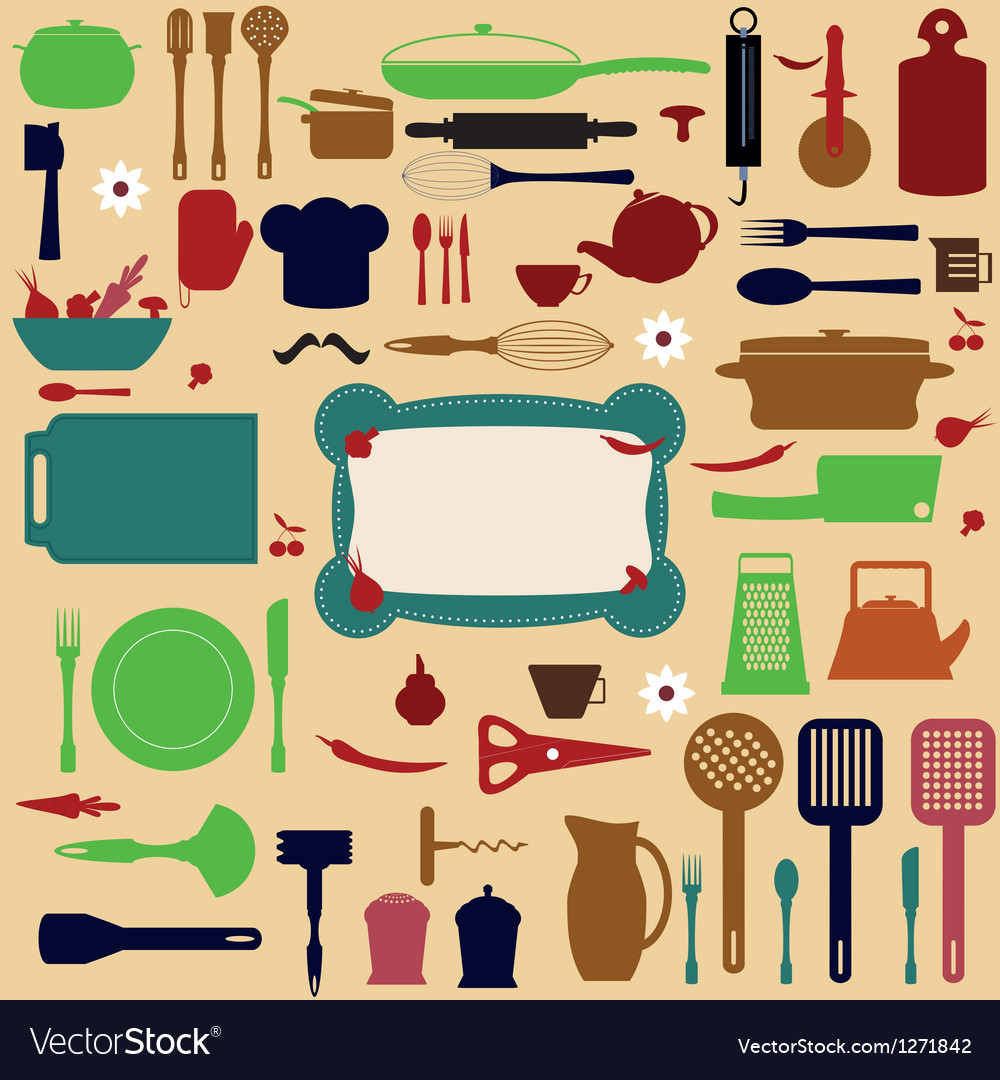 Kitchen tools vector | Price: 1 Credit (USD $1)