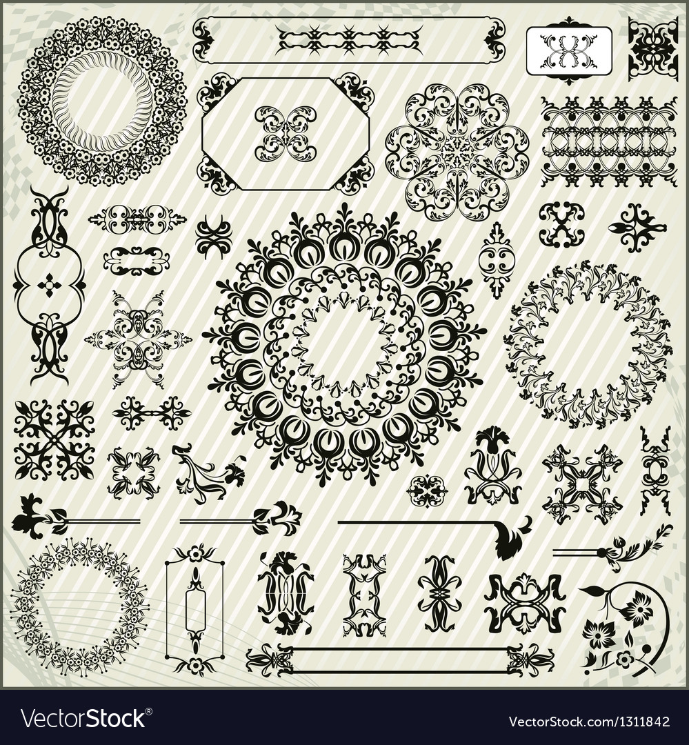 Ornamental pattern with linear background vector | Price: 1 Credit (USD $1)