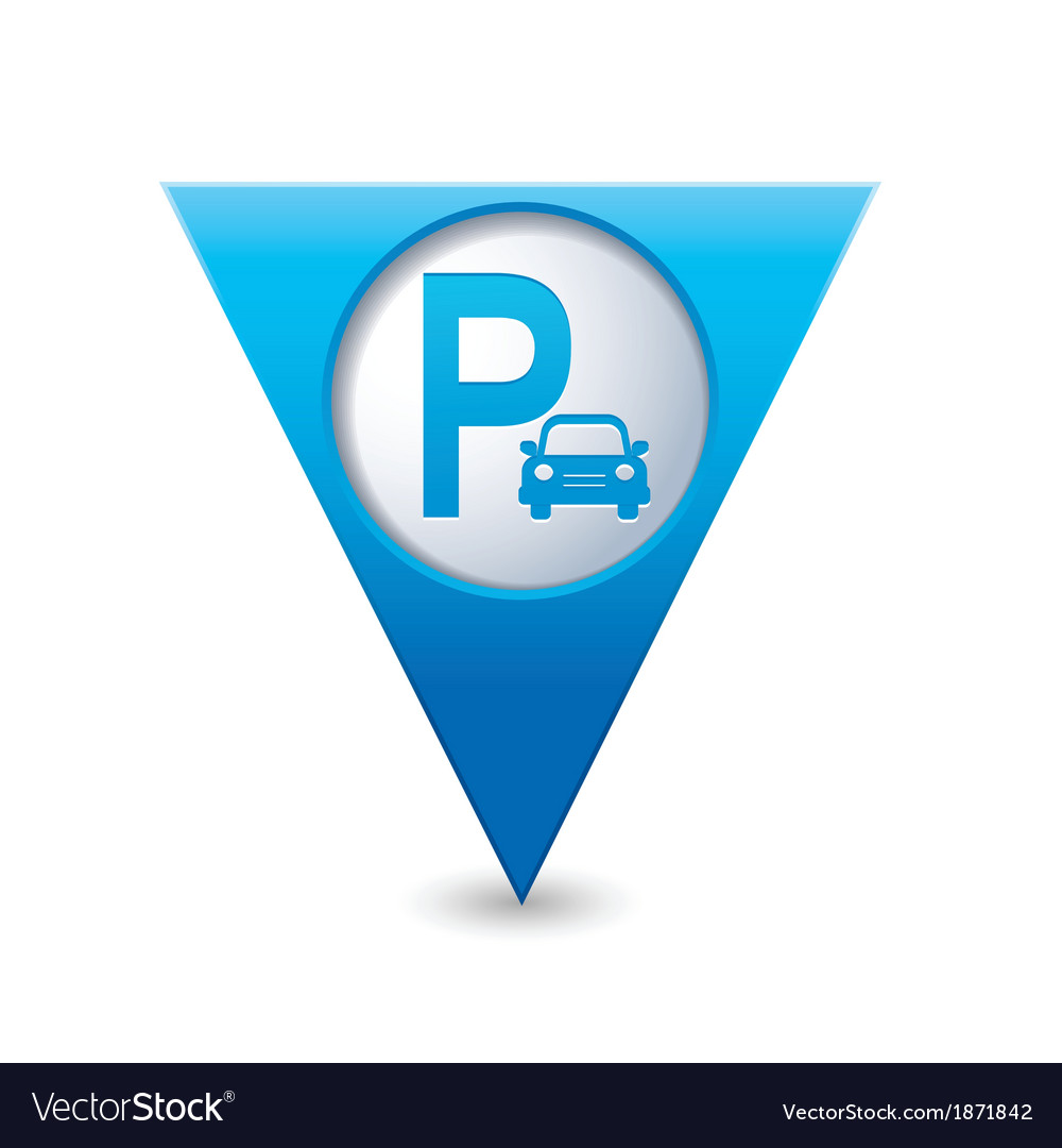 Parking icon map pointer blue vector | Price: 1 Credit (USD $1)