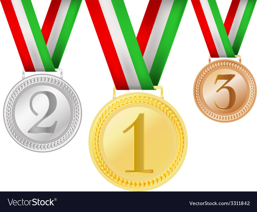 Set of medals vector | Price: 1 Credit (USD $1)